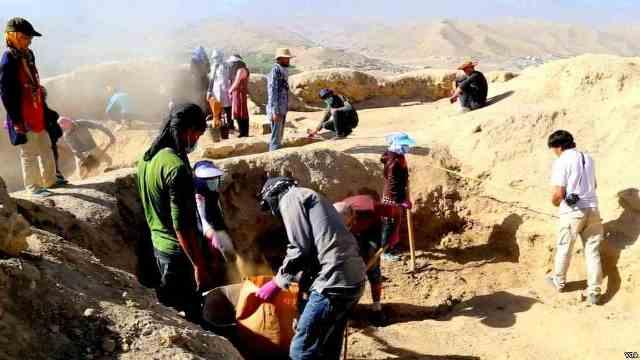 حفریات باستانشناسی در شهر «غلغله» بامیان , افغان تراول afghantravelaf